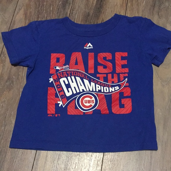Majestic Other - Chicago Cubs National Championship Shirt Small